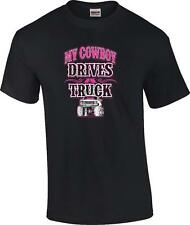 My Cowboy Drives A Truck Cowgirl T-Shirt