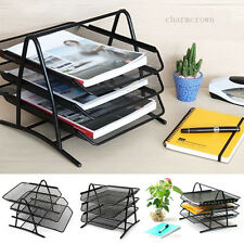 Office Filing Trays Holder A4 Document Letter Paper Wire Mesh Storage Organiser
