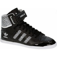 Adidas CENTENIA HI W Ladies Shoes Leather Black Sneakers High sleek top ten
