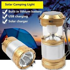 Outdoor Stainless Steel Led Solar Power Light Portable Emergency Camp Charging