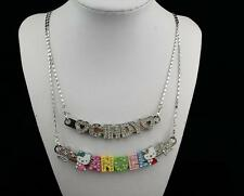 Personalized name necklace/hello kitty necklace with curved bar for self or gift