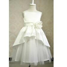 Flower Girl Dress Wedding Bridesmaid Prom Birthday Pageant Formal Party Ivory