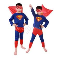Boy Kid Superman Party Outfit Costume Super Hero Character Child Cosplay Clothes