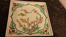 Porcelain Japan wall pocket Birds and Floral design Gorgeous!!! Must See !!!!!