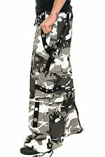TRIPP NYC CAMO GRAY ARMY MILITARY GOTHIC SKATER PUNK BONDAGE BAGGY PANTS AF7245P