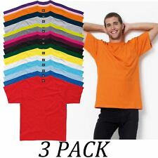 3-PACK-SG tshirts Tops-Mens Heavyweight T-Shirt-Crew Neck Short Sleeve tshirt
