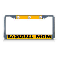 BASEBALL MOM HEARTS Metal License Plate Frame Tag Border Two Holes
