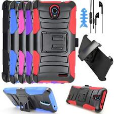 For ZTE Avid 828 Phone Case Holster Cover stand Headset Earbuds Earphone