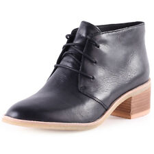 Clarks Phenia Carnaby Womens Heels Ankle Boots Black Leather New Shoes 6 7 UK