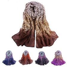 New Girls Women Leopard Long Soft Wrap Lady Shawl Silk Chiffon Scarf Fashion Hot