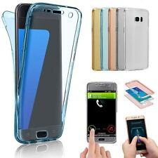 Front+Back Silicone 360° Screen Protector Clear Case Cover For Motorola Moto