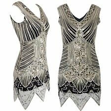 1920s Vintage Flapper Costumes Dress Fringe Sequin Formal Party Cocktail Dress
