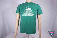 VERMONT mountain ski skiier outdoors American Apparel green 2001 t-shirt S M