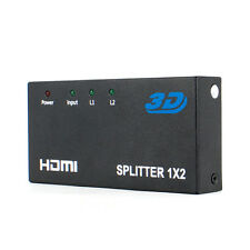 1x2 HDMI 1.3v HDCP 1.2 2 Output to 1 Input HDMI Splitter For Full HD 3D 1080P