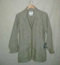 NWT VINTAGE Jeanne Engelhart Flax MOSSY TWEED  HIDE & SEEK JACKET sz P/XS M or L