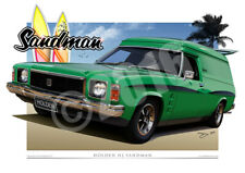 HJ Holden Sandman Art Print - Holden Car Drawings by Unique Autoart