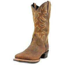"Laredo 13"" SQ Toe Cowboy Men EW Square Toe Leather Brown Western Boot NWOB"