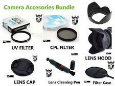 FK77 55mm CPL UV Filter + Lens Hood + Cap + Pen for Camcorder Camera Lenses