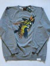Paradise Birds Gray Crewneck Sweater DIAMOND SUPPLY Co Company XL XLarge CREW