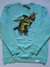 Paradise Birds Teal Crewneck Sweater DIAMOND SUPPLY Co Company XL XLarge CREW