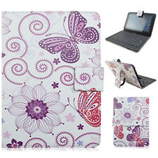 """Fashion PU Leather Micro USB Keyboard Case Stand Cover for 9"""" 10"""" Android Tablet"""