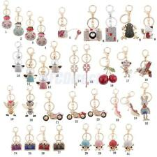 Rhinestone Crystal Keyring Key Ring Chain Bag Charm Pendant Women Purse Keyfobs