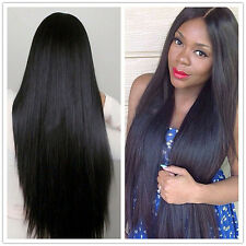 Women Remy Human Hair Silk 100% Baby Hair Lace Front /Full Lace Wig Straight Wig