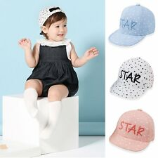 Sun Soft Cotton Toddler Baby Child Infant Boy Girl Peaked Baseball Cute Star Hat