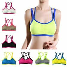 Women Yoga Fitness Exercise Workout Tank Top Seamless Racerback Padded Sport Bra