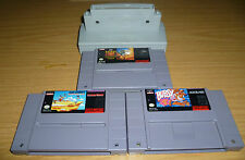 SNES NTSC DESERT STRIKE/BUBSY/ROAD RUNNER/PAL-NTSC-FAMICOM SNES GAME ADAPTER WOW