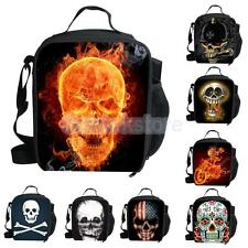 Insulated Cooler Picnic Thermal Portable Lunch Carry Storage Bag Skull Pattern