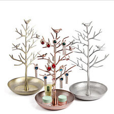 Retro Bird Tree Jewelry Earrings Ring Stand Holder Show Rack Necklace Display