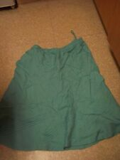 LADIES SKIRT SIZE 22 AQUA TURQUOISE NEW BNWT ELASTICATED WAIST BEING CASUAL