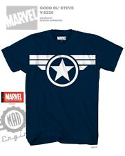 Wings Logo Captain America Movie Blue Color Licensed T-Shirt