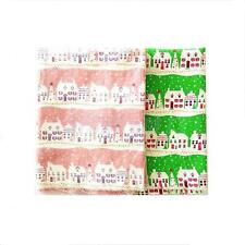 1.6 Yards Christmas Tree House Cotton Linen Sewing Cloth Fabric Table Cover