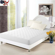 Mattress Cover Bed Topper Bug Dust Mite Waterproof Pad Protector Quilted 5 Sizes