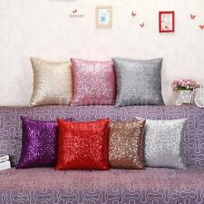 Handmade Sequins Sofa Bedroom Square Pillow Cushion Cover Case Throw Home Decor