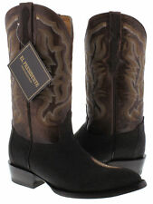 mens brown real stingray skin single diamond stone leather western cowboy boots