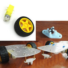 Smart Car Robot Tire Wheel DC3-6v Gear Motor/Roller Ball Bearing Metal Caster