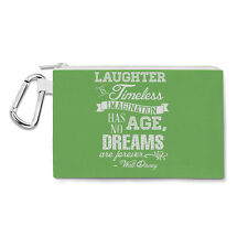Green Laughter is Timeless Walt Disney Quote Canvas Zip Pouch - Pencil Case Mult