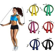 Speed Wire Skipping Adjustable Jump Rope Fitness Exercise Cardio Crossfit Sport
