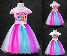 Girls My Little Pony Dress Kids Princess Party Flower Wedding 1-6Y Costumes