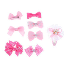 8pcs Girls Baby Kids Children Hair Accessories Bows Clips Slides Multicolor