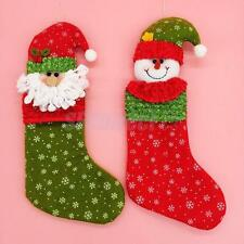 Merry Christmas Stocking Sock Kids Baby Gift Bag Xmas Home Decor Party Favors