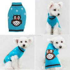 Pet Clothes Dog Owl Pattern Sweater Coat Puppy Apparel Outwear Jumper Chihuahua