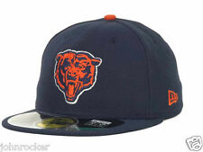 CHICAGO BEARS NFL NAVY BLUE OFFICIAL ON FIELD NEW ERA 59FIFTY FITTED HAT/CAP NWT