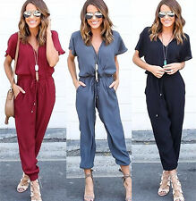 Sexy Women Ladies V Neck Clubwear Playsuit Party Jumpsuit Romper Long Trousers