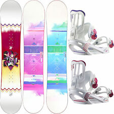 Salomon Lotus Snowboard + Damen Binding – Damen Snowboard Set