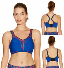 Freya 4000 Active Soft Cup Multiway J Hook Crop Top Sports Bra Olympic Blue