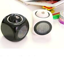 Multi-Function LED Projection Alarm Clock Temp Display Voice New 2 Colors